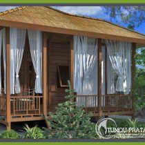 rumah kayu minimalis modern 2 lantai - denah rumah