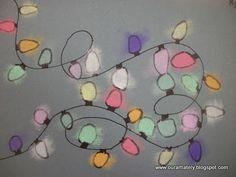 Christmas Light Art ...w/chalk