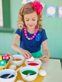 Dying to Dye in Host a Kids' Easter Egg Decorating and Hunt Party from HGTV