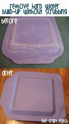 Remove Hard Water Build-Up From Dishes Without Scrubbing