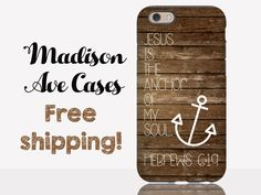 Jesus is the Anchor Of My Soul Hebrews 6:19 Godly Christian Quote Birthday Gift Girl Wood Bible Verse Samsung iPhone Edge Case 6s Plus Tough
