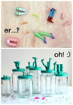 Altes Spielzeug soll man nicht wegschmeißen, sondern etwas kreatives daraus machen! Die tollsten Ideen zum Basteln mit altem Spielzeug! - DIY Bastelideen
