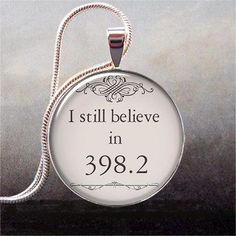 398.2 is the fairy tale section for the Dewey Decimal System -- an adorable and unusual pendant for fairy tale lovers.