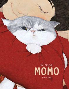 My friend Momo by Sun,cats,Illustrations Art And Illustration, Illustrations And Posters, I Love Cats, Crazy Cats, Cute Cats, Cat Drawing, Cat Art, Cats And Kittens, Illustrators