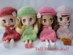 Sweater Dress and Beret hat set for petite by Dollfashionmall