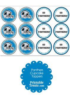 Carolina Panthers Cupcake Toppers from PrintableTreats.com