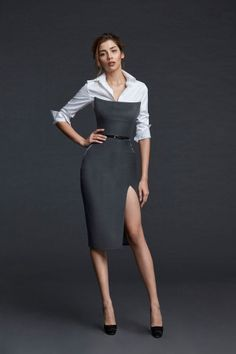 For a woman fashion is like breathing. Its something she can live without. Unfortunately not all women know how to dress. And that's where fashion tips for women comes into play. Business Outfits, Office Outfits, Classy Outfits, Casual Outfits, Black Wedding Dresses, Formal Dresses, Fashion Moda, Womens Fashion, Fashion Tips