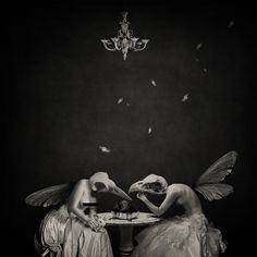 macabre; goth; art; dark; fantasy; birds; dinner; read at:  http://www.writerscafe.org/writing/hideNseek/841258/