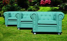 #Sofá #Chester - #Color #Turquesa - Chester #Couch #Turquoise - #Decoración #Mobiliario #Interiorismo Fiaka.es