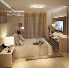 The Nuiances of Luxury Bedroom Design Ideas - myhomeorganic Luxury Bedroom Design, Bedroom Bed Design, Home Room Design, Home Decor Bedroom, Home Interior Design, Living Room Designs, Suites, Luxurious Bedrooms, Small Apartments