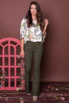 #debrummodas #coleção #calça #flare #blusa #floral #modafeminina #moda #fashion #style #estilo