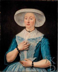 Tibout Regters Portret van Anna Braam (Harlingen 1738 - Harlingen 1777), 1763 Amsterdam, Amsterdam Museum, inv./cat.nr. A470 #Friesland