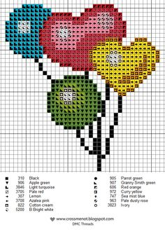 Cross me not: Balloons cross stitch chart