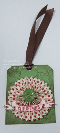 Pines and Poinsettias Stampin' Up! Gift-tie-on
