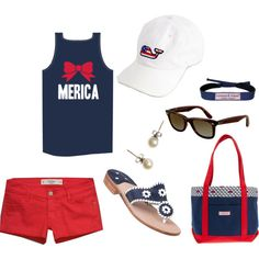Perrrff Fourth of July outfit- my style! 4th Of July Outfits, Holiday Outfits, Summer Outfits, Cute Outfits, Merica Shirt, Lily Pulitzer, Tommy Hilfiger, J Crew, Ralph Lauren