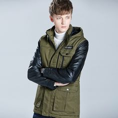 Men's Winter Cotton  Army Green  Jacket  Hooded  Plus Thick  slim single breasted Outerwear Middle Long Business Coat Male  Warm #Affiliate