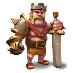 Clash of Clans Barbarian King Iron on Heat Transfer 8 X 9 for sale online Clash Of Clans Attacks, Clash Of Clans Hack, Clash Of Clans Free, Clash Of Clans Gems, Clash Clans, Desenhos Clash Royale, Clash Of Clans Troops, Barbarian King, Boom Beach