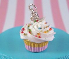 Cupcake Necklace by littlesweetthing on Etsy, $25.00