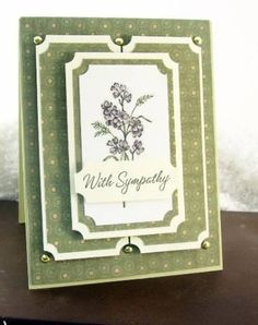 With Sympathy by 2busyscrappin - Cards and Paper Crafts at Splitcoaststampers