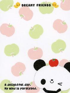 Free Notes: Dreamy Friends #free #printables #cute #kawaii #asian #stationary #memo #panda