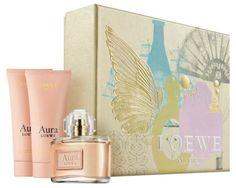 ¡¡CHOLLO!! Lote Aura de Loewe agua de perfume por 58,95€, incluye vaporizador de 80ml, crema corporal de 75ml y gel de ducha de 75ml. ¡Perfecto como regalo!
