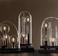 Chemistry Cloche lighted sculptures // Restoration Hardware (splurge!)
