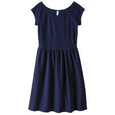 Xhilaration® Junior's Textured Knit Dress - Navy