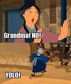This will be my mother when she's this old. -.-