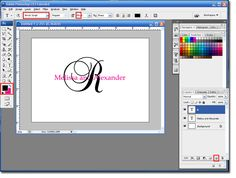 Letter Behind Monogram Tutorial in photoshop.need to learn how to do this!