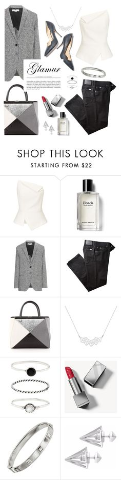 """monochrome"" by dffn-dn ❤ liked on Polyvore featuring Paul Andrew, Roland Mouret, Bobbi Brown Cosmetics, STELLA McCARTNEY, BRAX, Fendi, A Weathered Penny, Accessorize, Burberry and Shay"