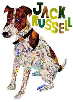 Jack Russell  Art Print by pinkypilotsart on Etsy - $7.00-$25.00 USE code PIN10 FOR 10%off  - #jacrussellart  #dogdecor #dogprint