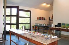 Ross Bleckner's studio - Sagaponack, NY