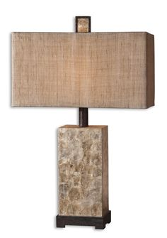 Uttermost Rustic Mother Of Pearl Table Lamp - 27347-1