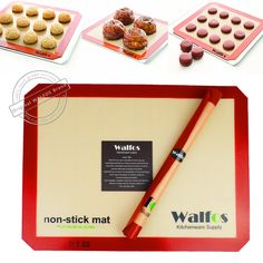 WALFOS 브랜드 베이킹 시트 라이너 비 스틱 Silpat 실리콘 베이킹 매트 silpat 비 스틱 베이킹 쿠키 라이너 과자 매트