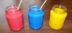 Zaujímavé experimenty s farbami pre deti - Nasedeticky.sk Montessori, Creativity, Water Bottle, Water Bottles
