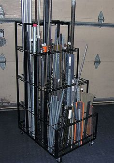 welding shop Vertical Material Rack, by J. Metal Workshop, Workshop Storage, Garage Workshop, Tool Storage, Storage Bins, Diy Storage, Steel Storage Rack, Steel Racks, Metal Rack