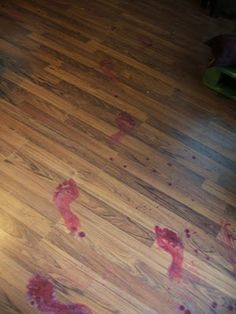 Red paint + water.   Just make sure, before you do this, that your party guests aren't squicked out by the sight of blood.  Oops.