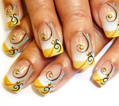 swirls by Pilar - Nail Art Gallery nailartgallery.nailsmag.com by Nails Magazine www.nailsmag.com #nailart
