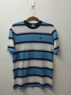 1ddb2f7f6019 Vintage HANG TEN T-Shirts Stripe Colour Design Surf L Size Street Wear.  Used Clothing ...