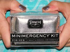 Great gift idea for tweens and teens!  Mini-emergency kit!
