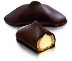 Caprice my favourite praline - hand made of nougatine filled with vanilla fresh cream. It is enrobed of dark chocolate. Taste it with a coffee or a earl grey tea, and you'll love it. Thanks Neuhaus Chocolatier.