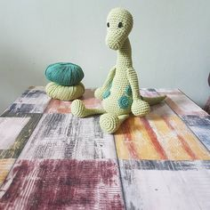 "69 Likes, 1 Comments - Sarah 🐝 (@mrsbeescrochet) on Instagram: ""Another Patrick the alpatosaurus 💚 #crochet #crochetlove #crochetdinosaur #yarn #crafts #craft…"""