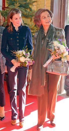 Queen Sofia of Spain and daughter-in-law Princess Letizia of Asturias visit Restivo Futuro    11/29/2013