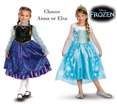 Child Toddler Movie Disney Pixar Frozen Princess Anna Queen Elsa Dress Costume | eBay