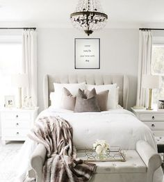 This is a Bedroom Interior Design Ideas. House is a private bedroom and is usually hidden from our guests. However, it is important to her, not only for comfort but also style. Much of our bedroom … Cozy Bedroom, Home Decor Bedroom, Classic Bedroom Decor, Romantic Bedroom Decor, Bedroom Sets, Spa Like Bedroom, Bedroom Ottoman, Earthy Bedroom, Tranquil Bedroom