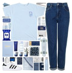 """ON MY OWN"" by doubting ❤ liked on Polyvore featuring Topshop, adidas Originals, kikki.K, Dot & Bo, Byredo, Jayson Home, Akira, Essie, Jack Wills and Goody"
