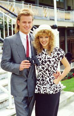 Kylie Minogue ♡Ƹ̴Ӂ̴Ʒ♡ Kylie Minogue and Jason Donovan Old Love, The Good Old Days, 1980s Wedding, Kylie Minouge, Australian Actors, 80s Music, My Childhood Memories, 90s Kids, Big Hair