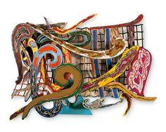 Frank Stella, Shoubeegi, 1978 Love the haphazardness! Cardboard Sculpture, Cardboard Art, Cardboard Relief, Frank Stella Art, Post Painterly Abstraction, Famous Artwork, Museum Of Modern Art, Abstract Sculpture, Artist Art