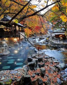 """""""One of the largest open air baths in Japan"""" - Hotel Takaragawa Onsen Osenkaku, Minakimi, Japen. As legend has it one of the natural hot springs at Takaragawa Onsen Osenkaku miraculously cured the emperor of Japan Japanese Hot Springs, Hot Springs Japan, Travel Photographie, Gunma, Visit Japan, Beautiful Places To Travel, Travel Aesthetic, Japan Travel, Trip Advisor"""