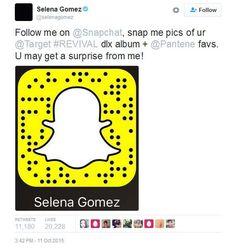 Selena Gomez Snapchat Name